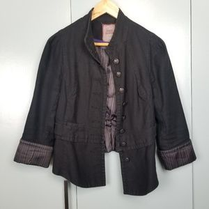 Free People Black Jean jacket size 8 -R1